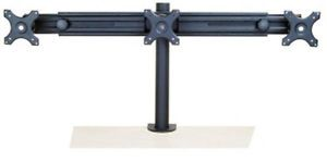 Monmount Triple LCD Desk Mount Stand 3 Monitors Up to 26 Inch