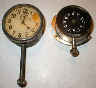 2 Antique Phinney Walker Car Dash Clock Gauge Buick Ford Model T Chevrolet Dodge