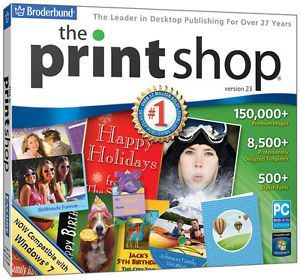 The Print Shop 23 PC Windows Printshop Software Brand New Factory SEALED JC