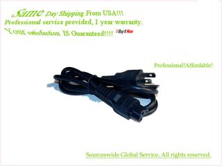 AC Power Cord Line Outlet Cable Plug for Gateway FPD1760 FPD2185W LCD TV Monitor