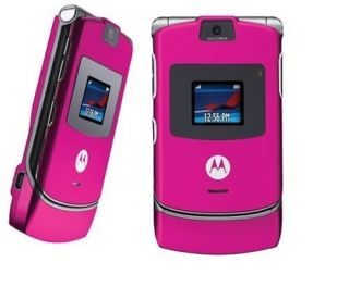 Brand New Motorola RAZR V3 Pink Unlocked Mobile Phone Box All Accessories 0502532230752