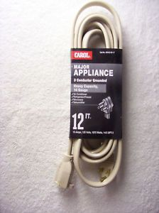 New Carol Major Appliance 12 Foot Extension Cord