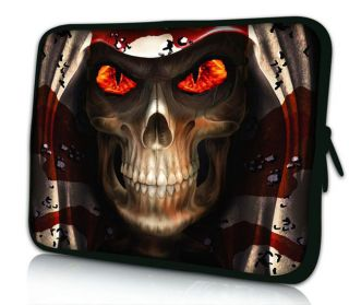 "17"" Cool Skull Laptop Netbook Bag Sleeve Case Pouch for 17"" Dell Alienware M17x"