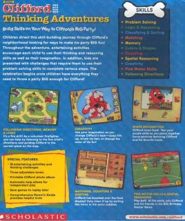Clifford The Big Red Dog Thinking Adventures Educational Problem Solving Logic 078073354344