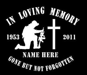 In Loving Memory Soldier Vinyl Decal