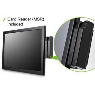 Touch monitor POS MSR included ED190 Touch VGA DVI 5 Wire Touch screen