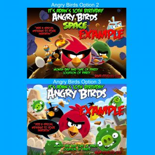 Details about Angry Birds Space Birthday Invitations 5x7 You Print