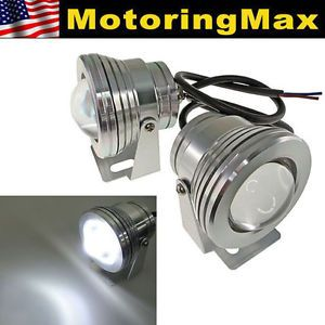 Super White High Power 10W LED Projector Fog Lights Lamps for Car SUV Truck