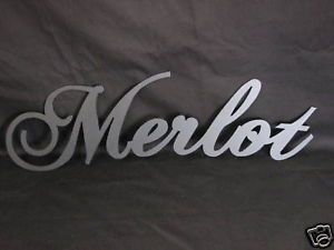 "Metal Plasma Cut ""Merlot"" Sign Wall Art"
