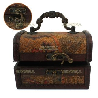 Decorative Gift Vintage Gracious Wooden Jewelry Box Storage Organizer Case