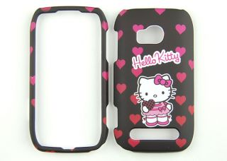 Hello Kitty Black Phone Case Hard Cover for T Mobile Nokia Lumia 710