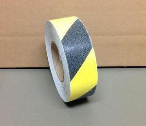 "2"" x 60' Anti Slip Non Skid Grit Grip Stair Step Floor Safety Tape Black Yellow"