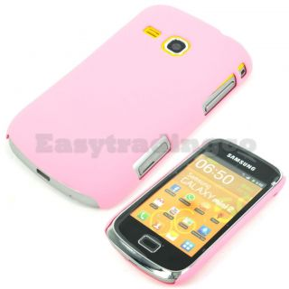 Hard Back Cover Case for Samsung Galaxy Mini 2 S6500 Pink
