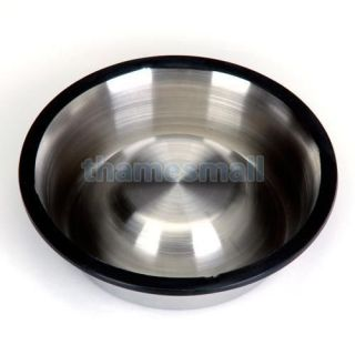 Stainless Steel Food Bowl w Rubber Ring Pet Dog Cat 3