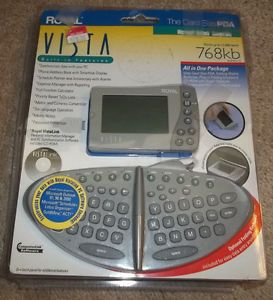 Vintage Royal Vista Card Size PDA 768KB Memory in Box Organizer Works
