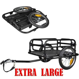 "Veelar Foldable 16"" Bike Cargo Trailer Shopping Utility Trailer Brand New"