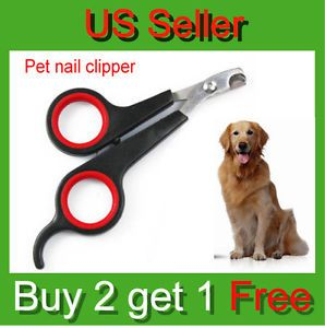 Pet Dog Cat Toe Care Nail Cutter Clippers Scissors Shear Grooming Trimmer