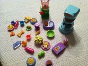 Littlest Pet Shop LPS Accessory Lot 26 Items Picnic Food Treats