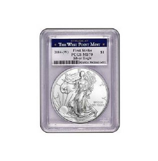 2014 w American Silver Eagle PCGS MS70 First Strike West Point Look Pre Sale