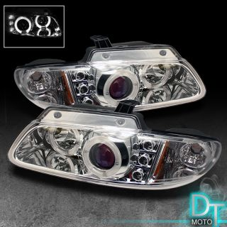 Sonar 96 00 Dodge Caravan Halo LED Projector Headlights