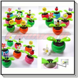 10x Wholesale Lot Solar Powered Flip Flap Flower Cool Car Dancing Toys at Random