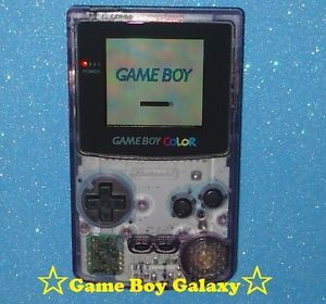 ★ New Screen ★ Clean Atomic Purple Nintendo Game Boy Color System GBC Hand Held