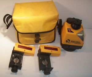Spectra Precision Laser Level 1422HP 2 Receivers Case