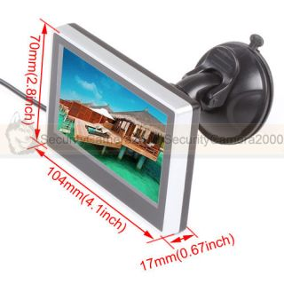 New 2CH CCTV Video Input 3 5'' Digital TFT LCD Monitor