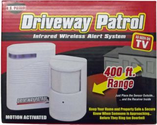 New Driveway Patrol Wireless Security Alarm Motion Detector Security System