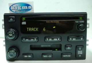 Kia Sorento 2003 2006 CD Cassette Player Radio for EX by Delco Tested 58219G