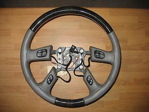 Denali Tahoe Silverado Wood Grain Steering Wheel Switches 16824549