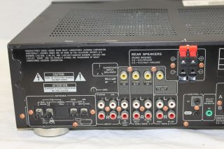 Pioneer VSX 401 Audio Video Stereo Receiver Dented Top Powers on Untested