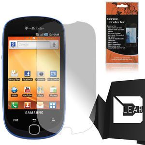 Samsung Galaxy Q SGH T589W Slider T589 Clear Screen Protector Clean Cloth