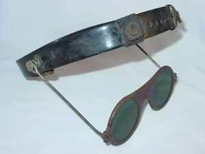 Vintage Jackson Safety Welding Glasses Goggles Steampunk Green Bakelite Visor