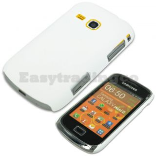 Hard Back Cover Case for Samsung Galaxy Mini 2 S6500 White