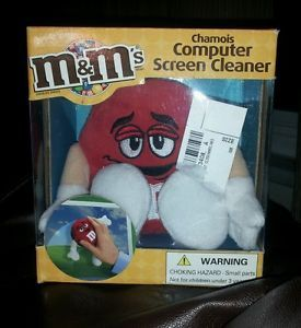New in Box M M M and M Candy Red Chamois Computer Screen Cleaner Stuffed Plush