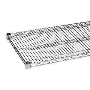 Commercial Kitchen Heavy Duty Chrome Wire Shelves 24 x 30 NSF 2 Shelves