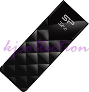 Silicon Power 32GB 32G USB Flash Pen Drive Diamond Pattern LED Ulitma U03 Black