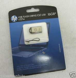New HP USB Flash Drive 16GB V221W Metal Mini Mobile Mac PC