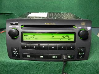 04 08 Toyota Corolla CD Radio  iPod Aux Audio SAT 86120 02430 Warranty