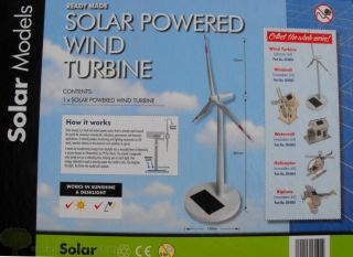 Solar Powered Wind Turbine Kit Educational Gadget Executive Toy