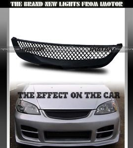 2001 2003 Honda Civic 2 4DR Coupe Sedan JDM ABS Mesh Sport Type R Grill Grille