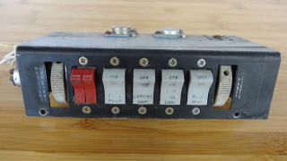 Piper PA28 Flip Flop Switches w Light Dimmers Master Switches PA28 151