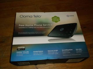 Ooma Telo VoIP Home Phone System Brand New in SEALED Box
