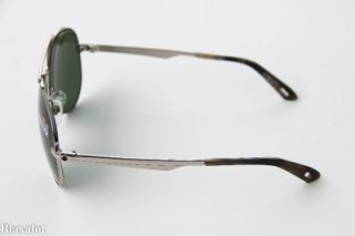 New Spy Parker Silver Gunmetal Frame Grey Green Lens Aviator Sunglasses