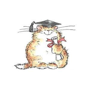 Penny Black Rubber Stamps Smarty Cat Graduate Kitty Stamp