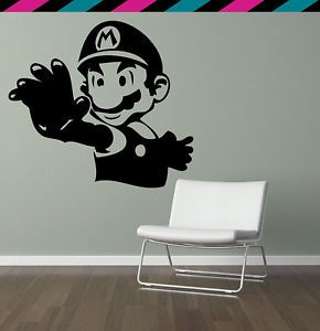 Super Mario Nintendo Video Game Wii GameCube Plumber Wall Decal Sticker Tattoo
