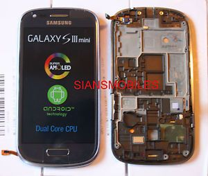 Samsung I8190 Galaxy S3 Mini LCD Touch Screen Display Full Original Genuine Blue