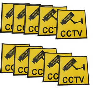 10x Security Camera DVR System Surveillance Home CCTV Warning Sticker Decal Sign