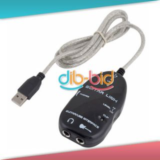 New Promotions Guitar to USB Interface Link Audio Cable PC Mac Recording Adapter